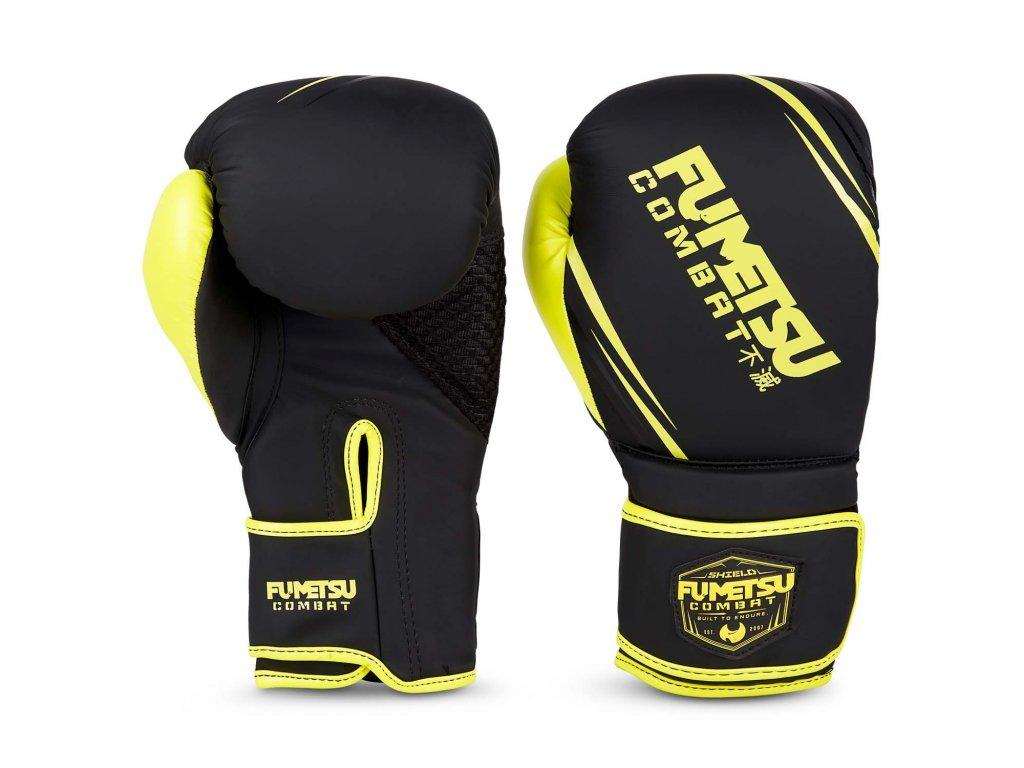 Fumetsu boxerské rukavice Shield - černá/neon
