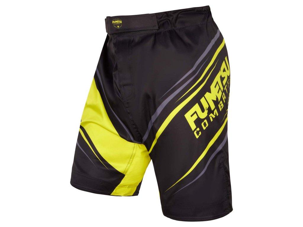 Fumetsu MMA trenky Shield - černá/neon