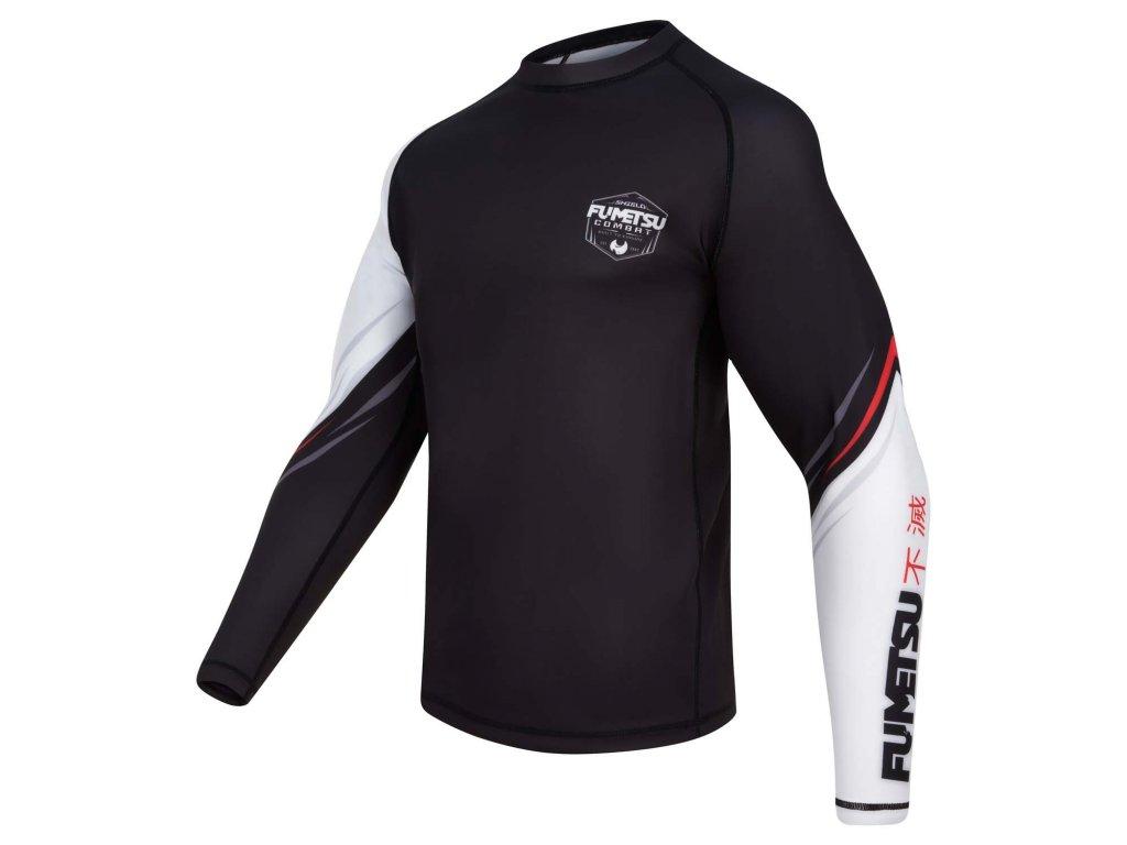 Fumetsu rash guard Shield dlouhý rukáv - čená/bílá/červená