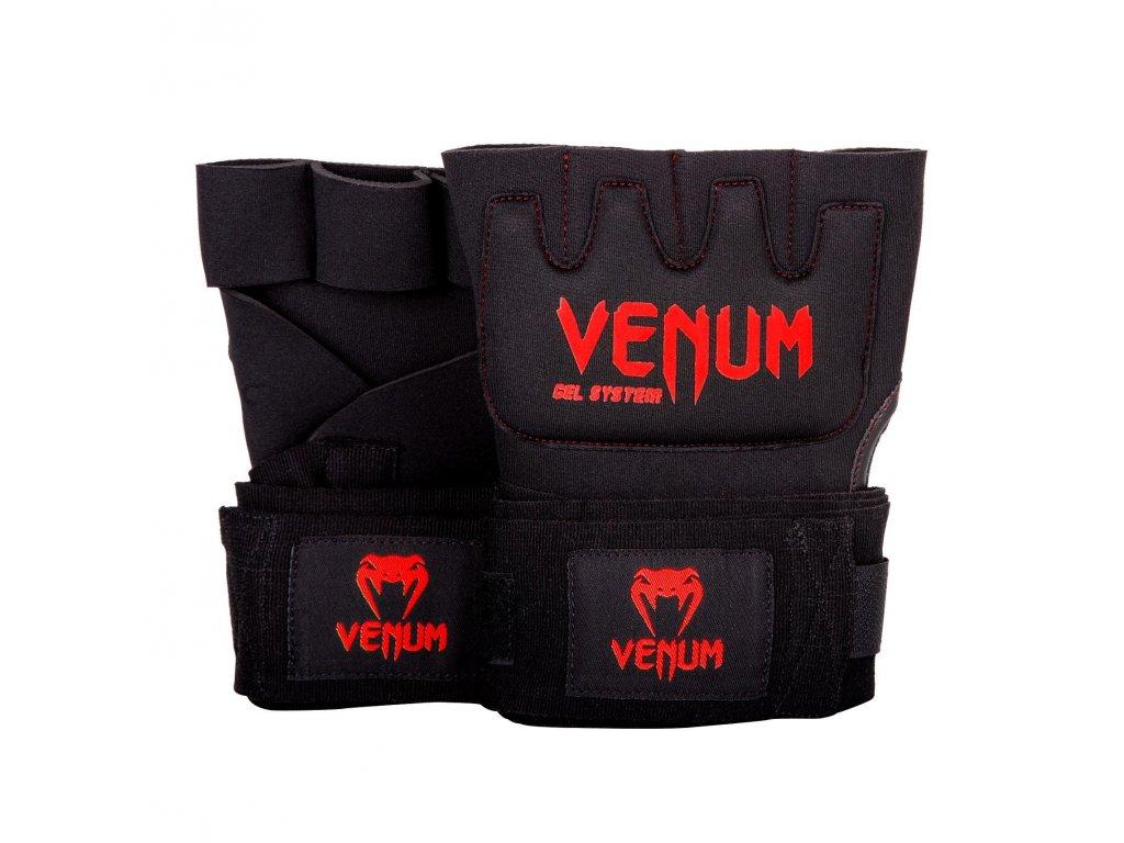Venum gelové bandáže Kontact Gel černá barva, červené logo