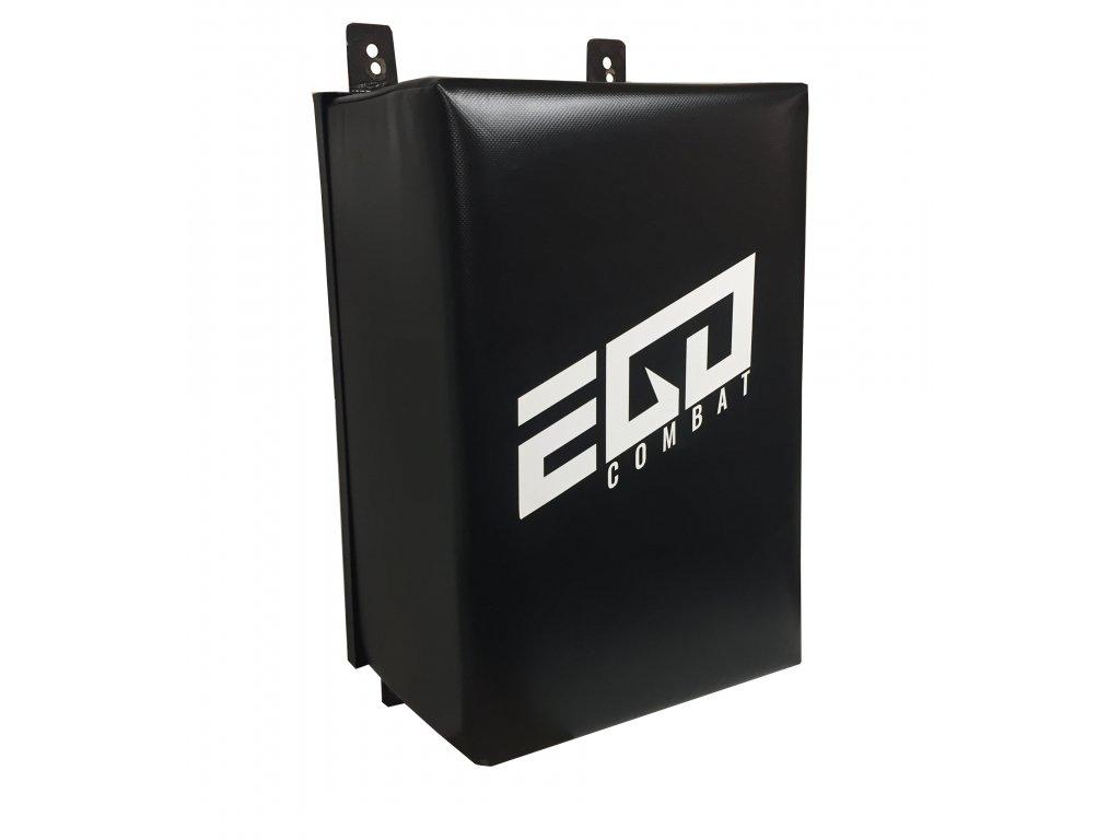 Lapa na stěnu Ego Combat - černá barva, bílé logo