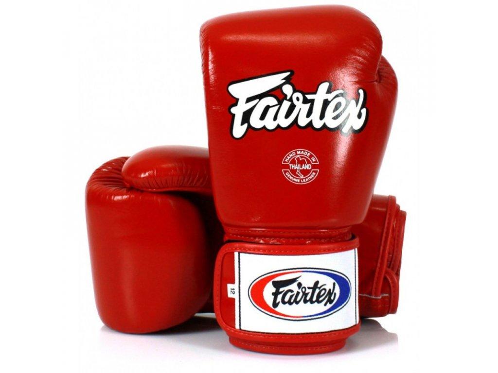 Boxerské rukavice Fairtex BGV1 - červená barva