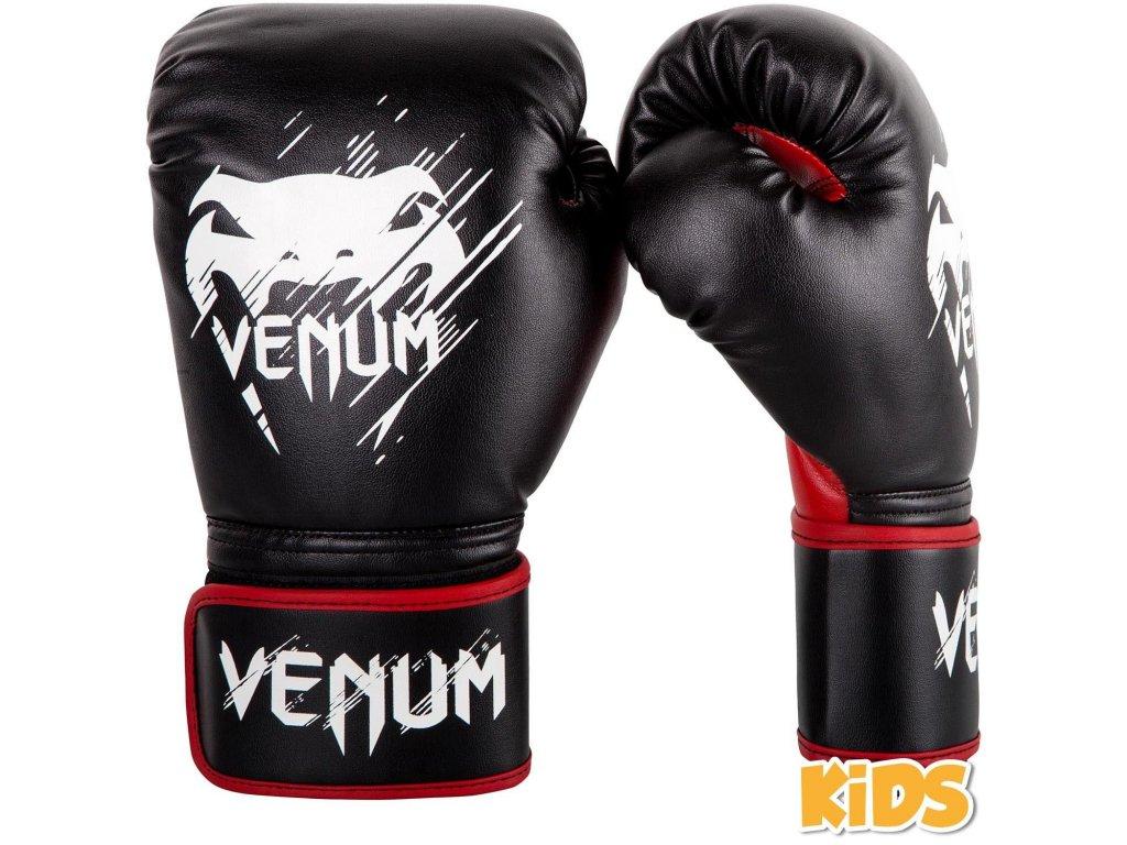 Boxerské rukavice dětské Venum Contender  - červená/černá