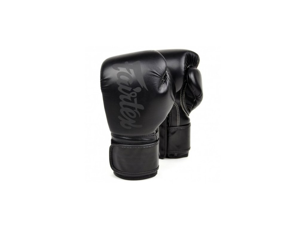 Boxerské rukavice Fairtex BGV14 - Black Solid Limited Edition