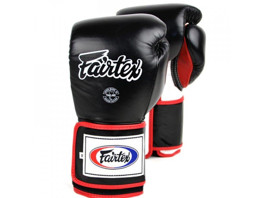 Boxerské rukavice Fairtex BGV5 Super Sparring - černá barva
