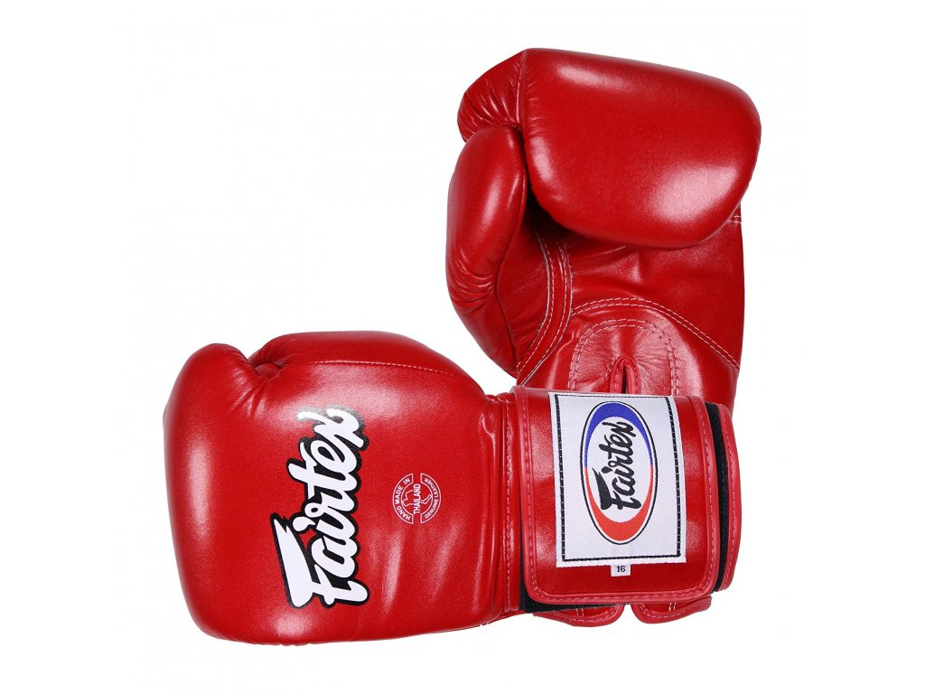 Fairtex boxerské rukavice BGV5 Super Sparring - ČERVENÁ barva