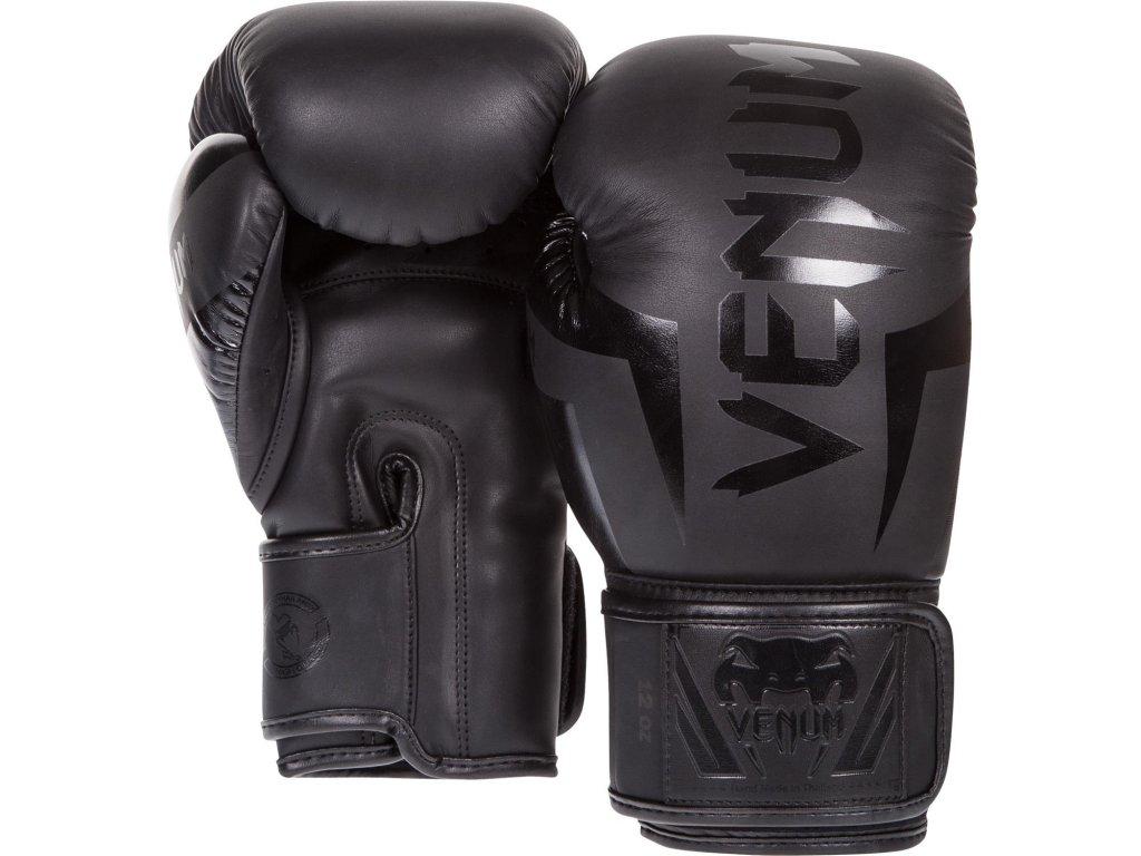 Boxerské rukavice Venum Elite - černá barva