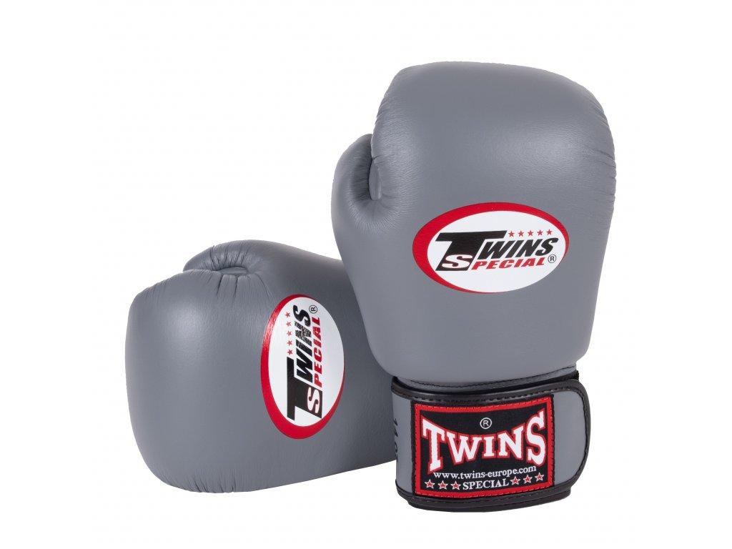 Boxerské rukavice TWINS BGVL-3-GREY šedá barva