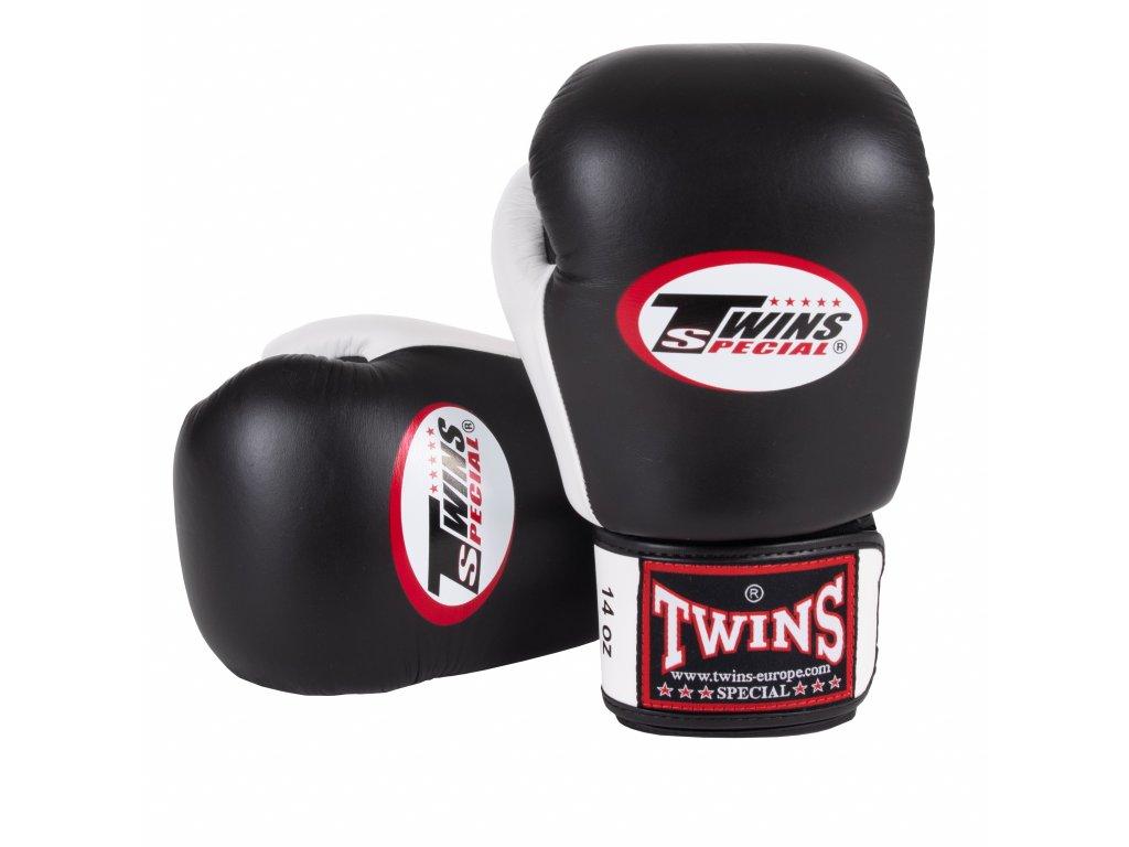 Boxerské rukavice TWINS BGVL-3-BLK/WHT černá barva