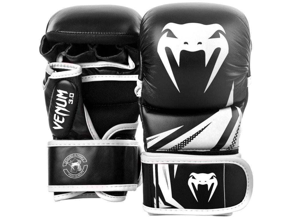 MMA rukavice Venum Challenger 3.0 černá barva bílé logo