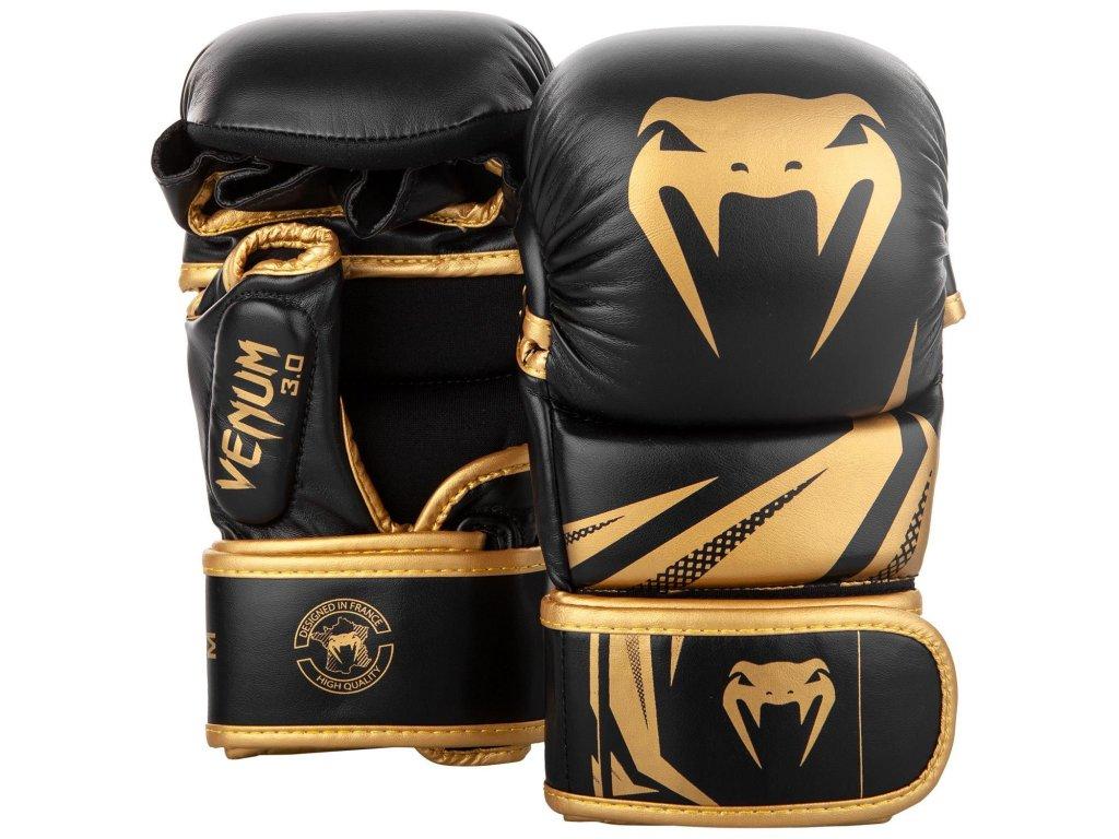 MMA rukavice Venum Challenger 3.0 černá barva zlaté logo