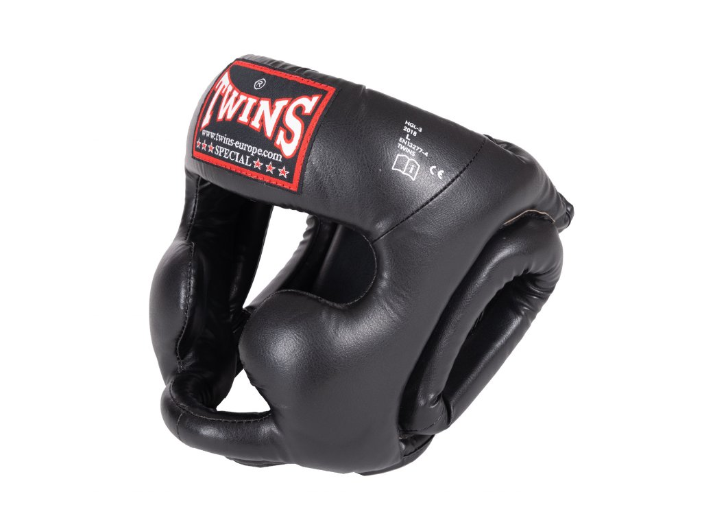 Přilba na box TWINS SKINTEX HGL-3 - černá barva