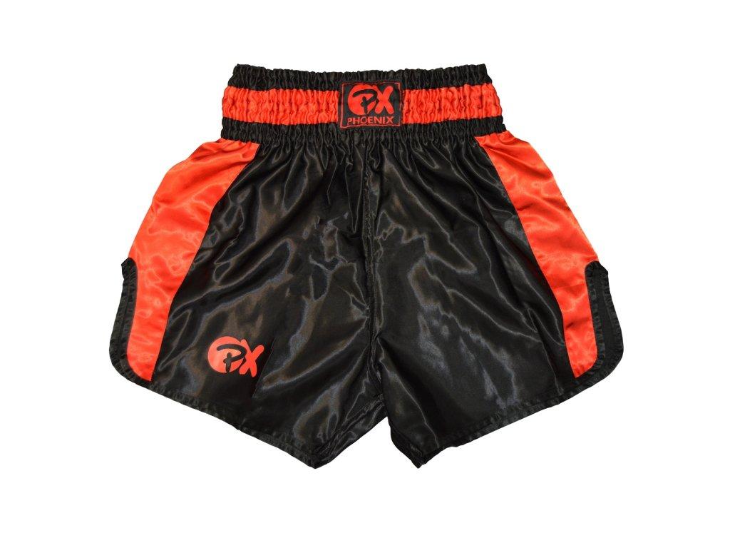 Trenky na thajský box Contender Phoenix - černá/červená barva