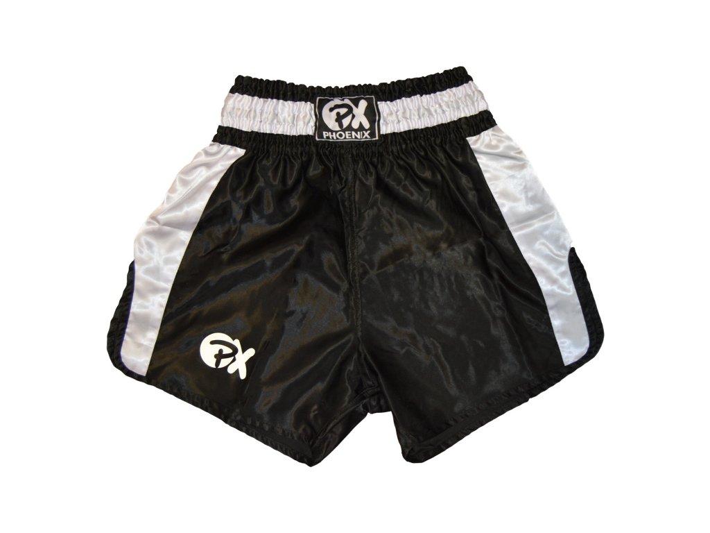 Trenky na thajský box Contender Phoenix - černá/bílá barva