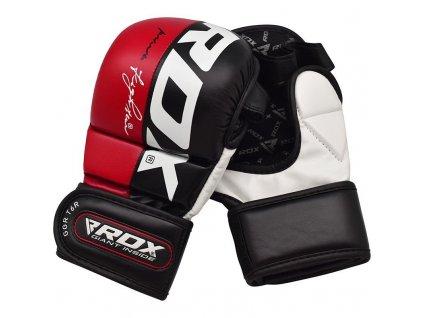 MMA rukavice sparing T6 RDX - červená barva