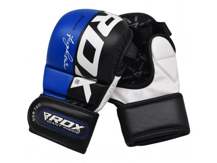 MMA rukavice sparing T6 RDX - modrá barva