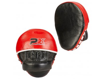100 HP16 Handpratzen Paar gekruemmt Leder schwarz rot weiss 3