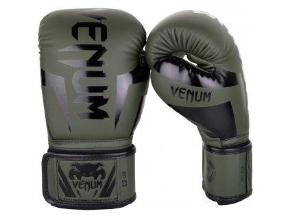 Boxerské rukavice Venum Elite - khaki barva
