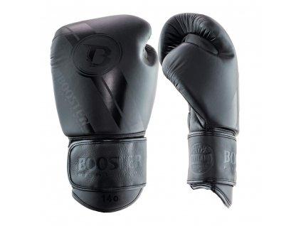 Booster kožené boxerské rukavice Dark Side - černá
