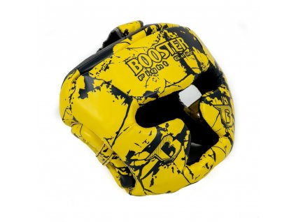 Dětská sparingová přilba Booster - žlutá