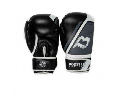 Boxerské rukavice BOOSTER  BT SPARRING V2 - černá/šedá