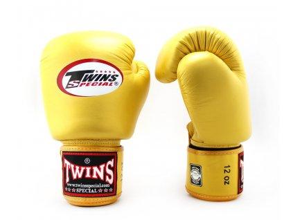 Boxerské rukavice TWINS BGVL-3 - zlatá barva