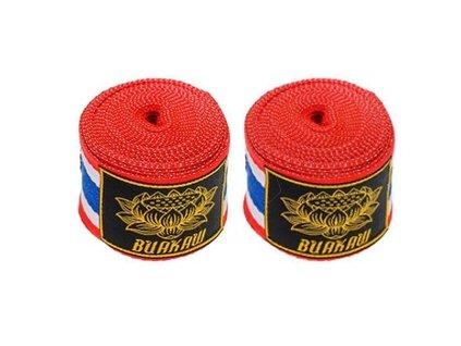 Buakaw Banchamek polo-elastická bandáž 5 m - THai Flag
