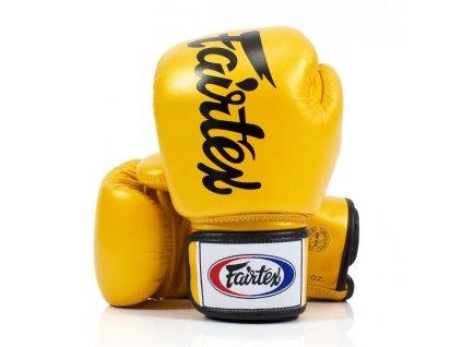 Boxerské rukavice Fairtex BGV19 - zlatá barva