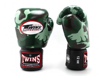 Boxerské rukavice TWINS FBGVL3 - Army zelená