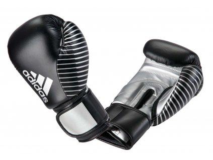 adidas boxerké rukavice adiKBWKF200 - černá/stříbrná