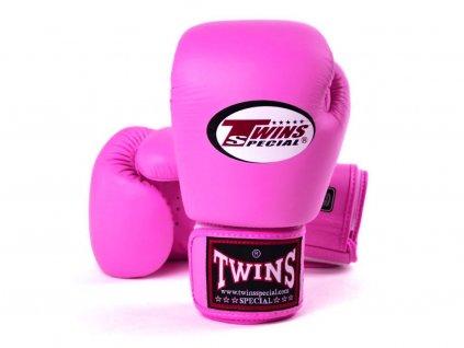 Boxerské rukavice kožené TWINS BGVL-3 - růžová tmavá