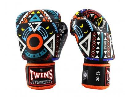 Boxerské rukavice TWINS FBGVL3-57 - oranžová