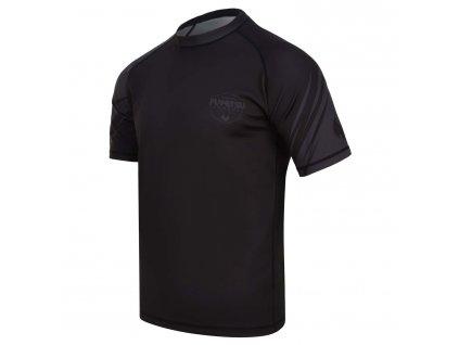 Fumetsu rash guard Shield krátký rukáv - čený/černý