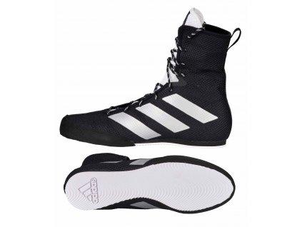 adidas boty Box Hog 3 - černá/stříbrná