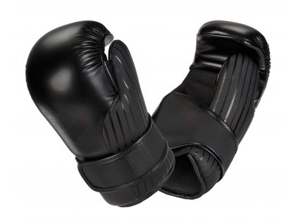 adidas Pro Point Fighter otevřené rukavice adiKBPF200 - černá/černá