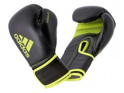adidas boxerké rukavice Hybrid 80  - černá/neon zelená