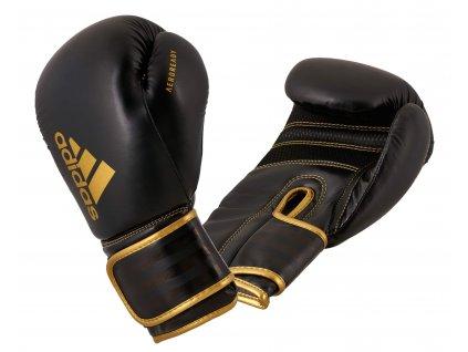 adidas boxerké rukavice Hybrid 80  - černá/zlatá