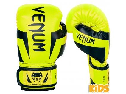 Dětské boxerské rukavice Venum Elite - neonově žlutá