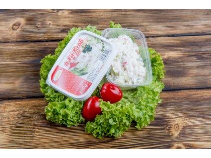 Salát light - krabí s jogurtovou majonézou