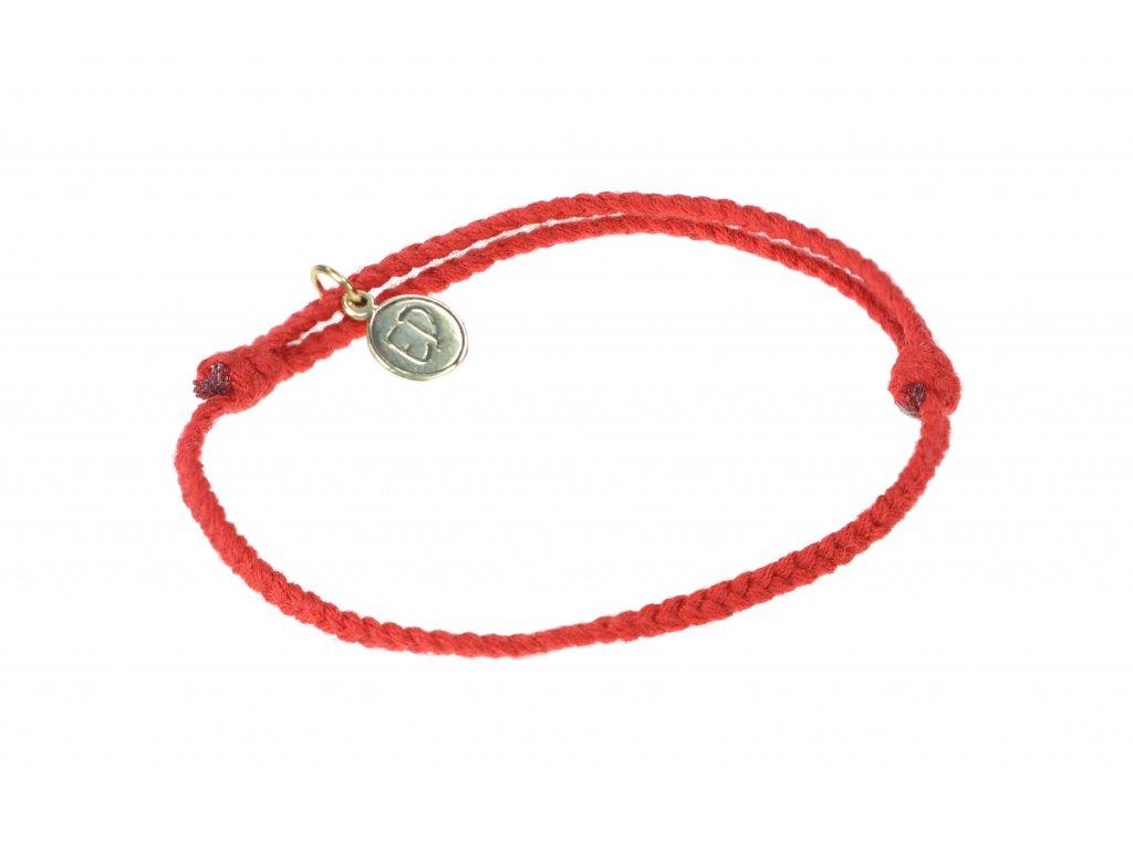 Dámsky bavlnený ochranný náramok - červený