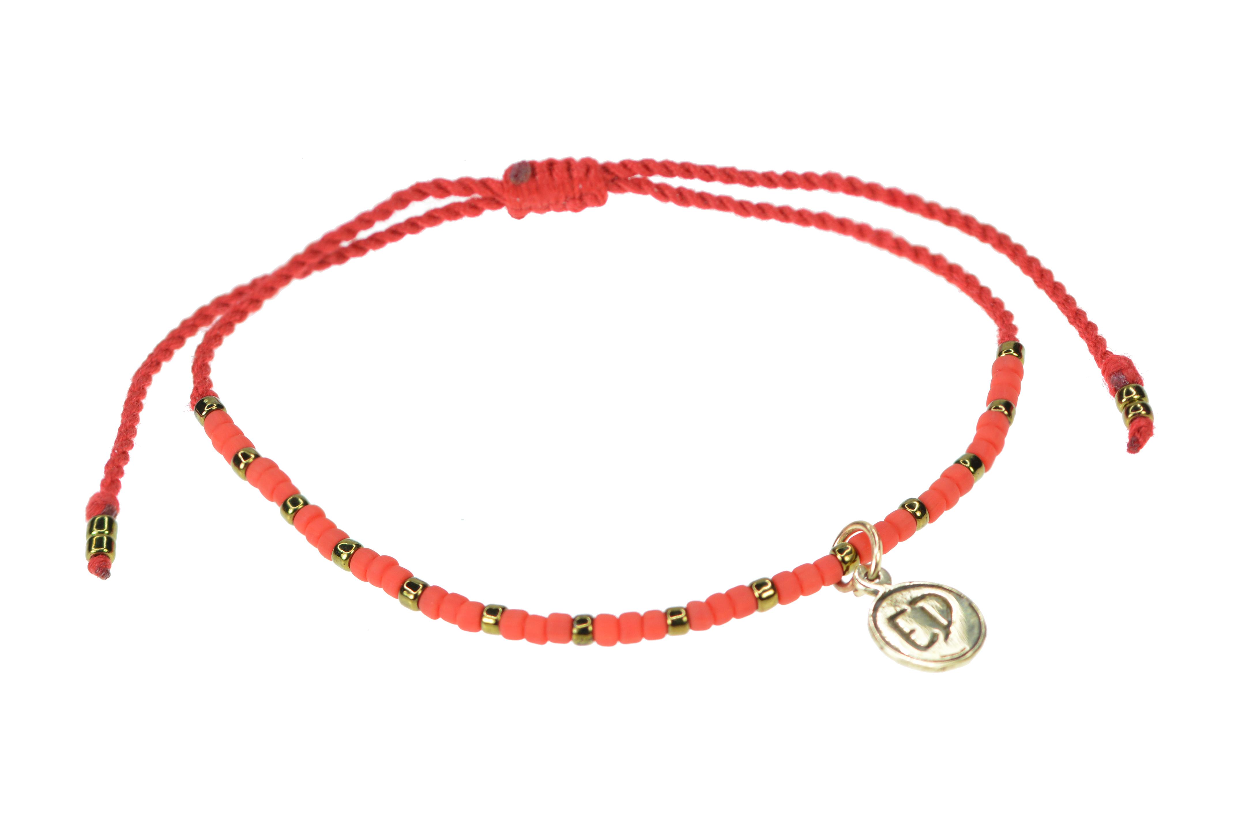 Ochranný náramok z japonského rokajlu - červený