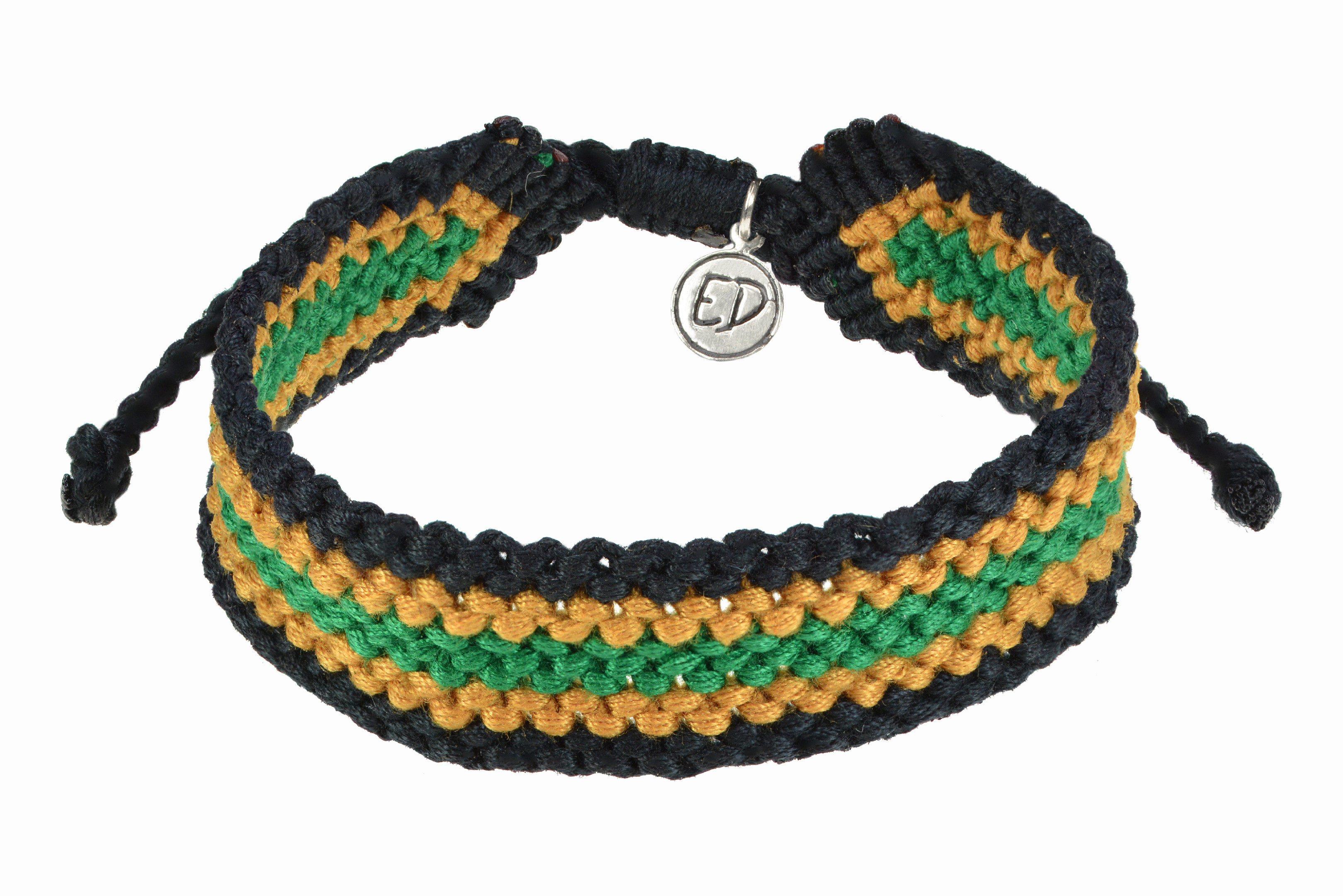 Pánsky pletený náramok - zelený