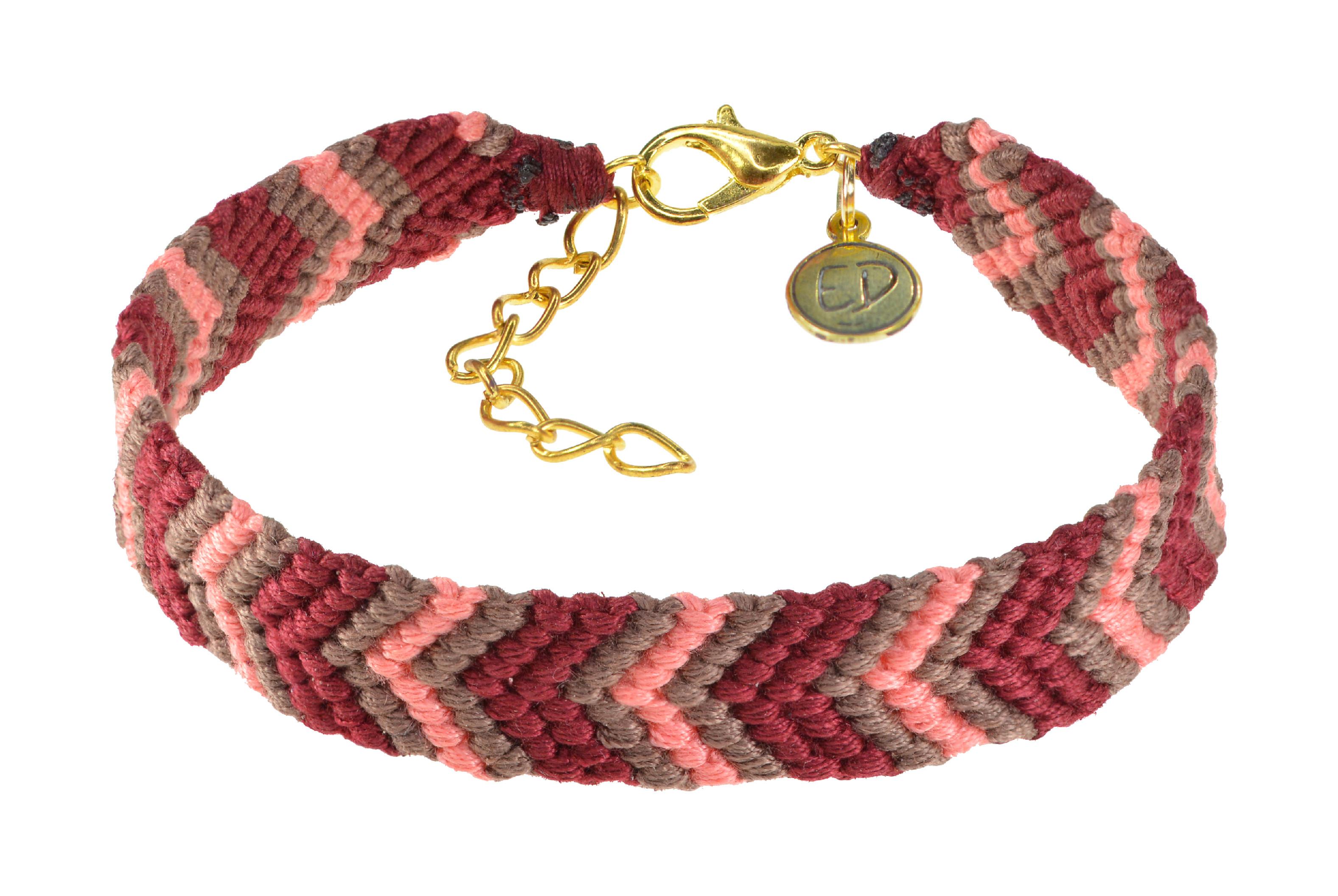 Dámsky ručne pletený náramok - červený