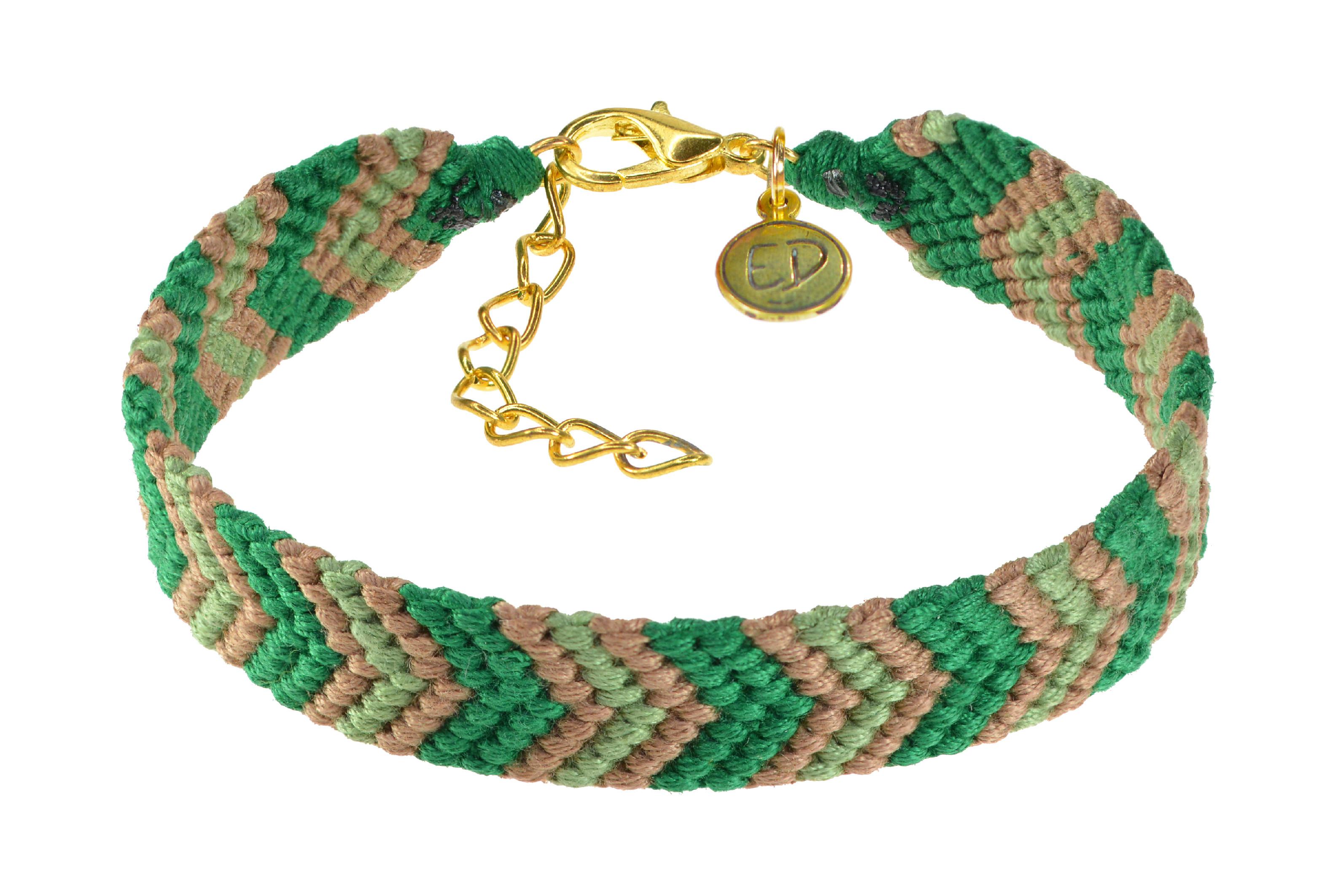 Dámsky ručne pletený náramok - zelený
