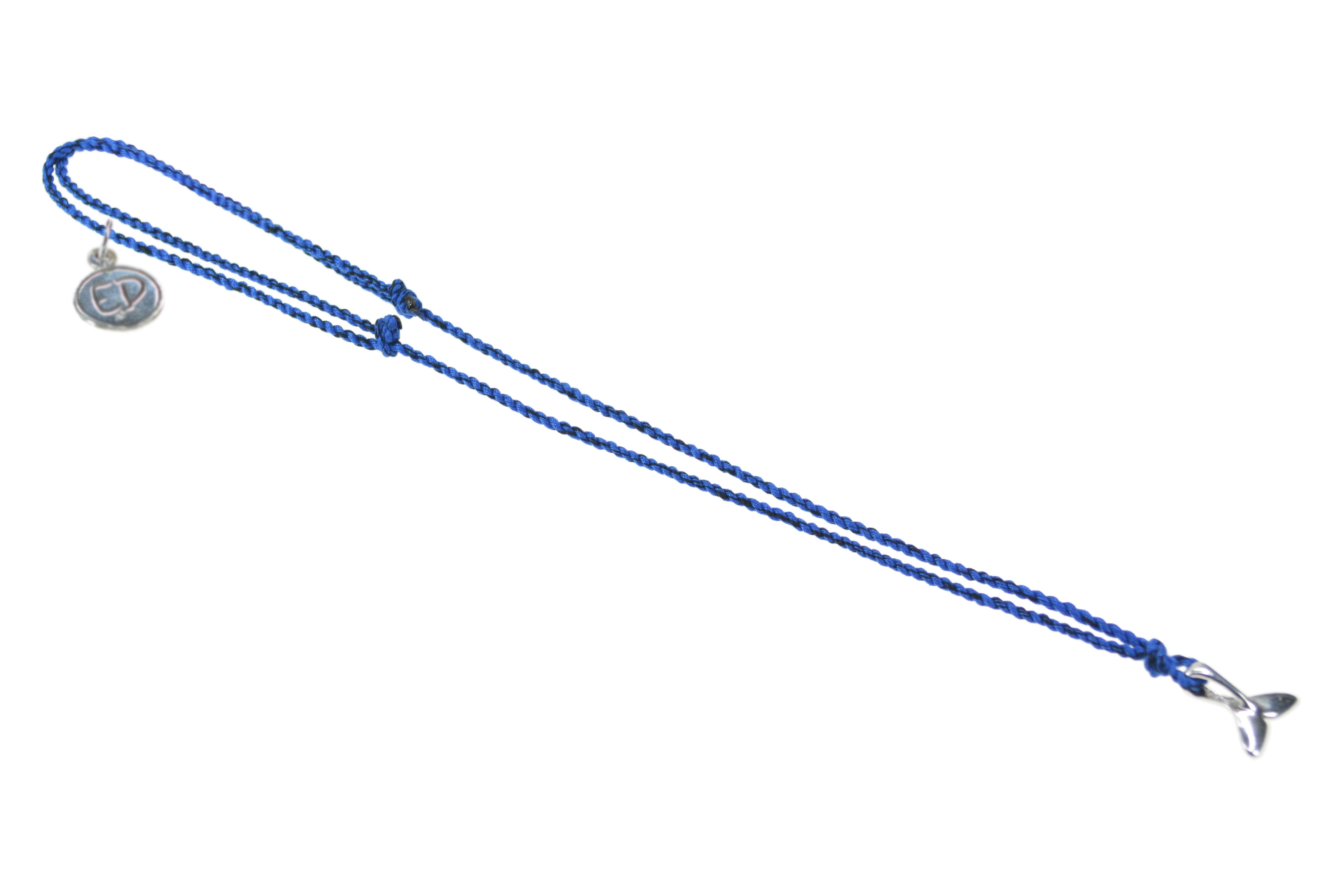 Pánsky prírodný náhrdelník s príveskom veľryba - modrý