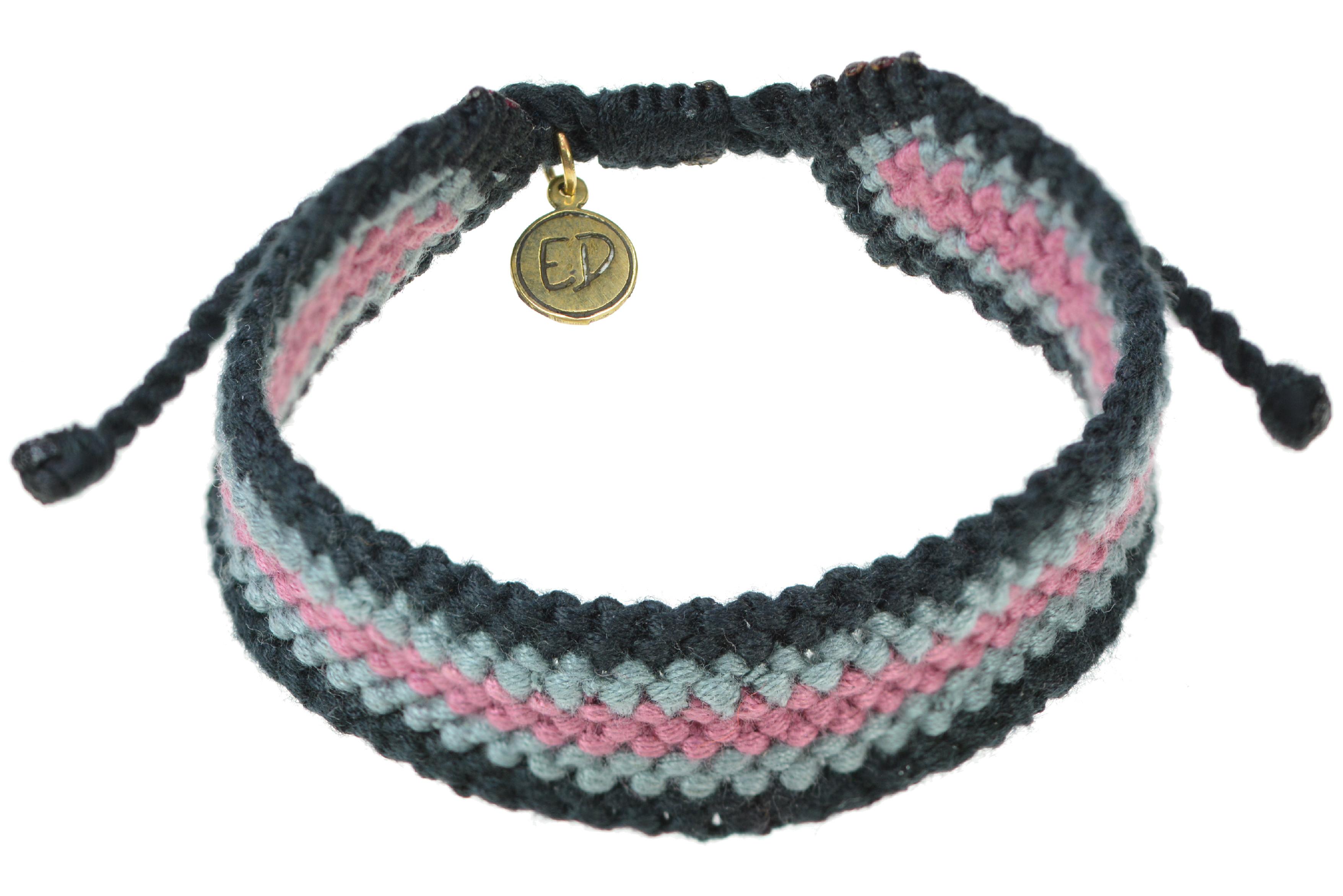 Pánsky pletený náramok - fialový