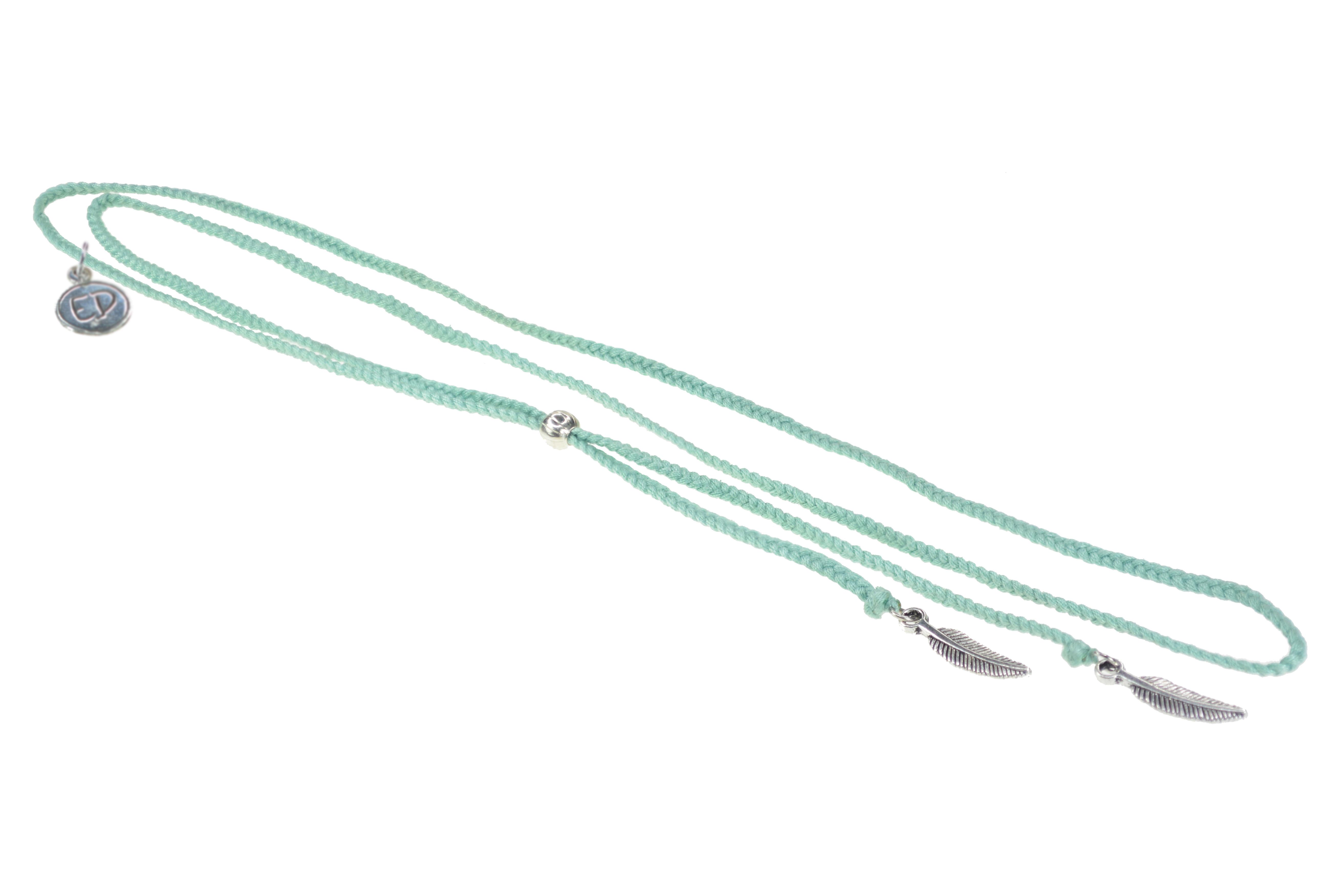Dámsky prírodný náhrdelník s príveskami pierko - Neo Mint