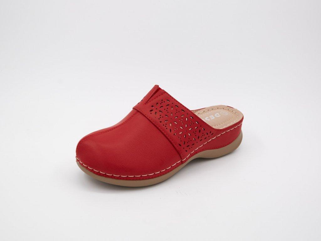 Zdravotnické dřeváky dámské červené Simona