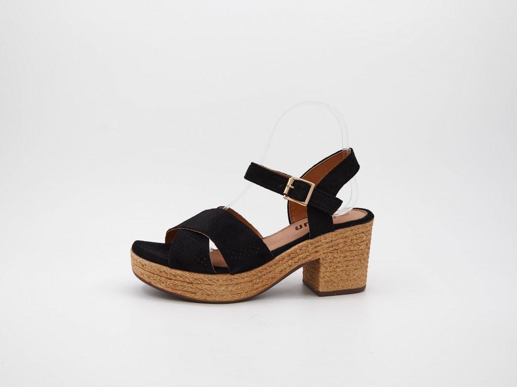 Dámské sandály černé Loparna