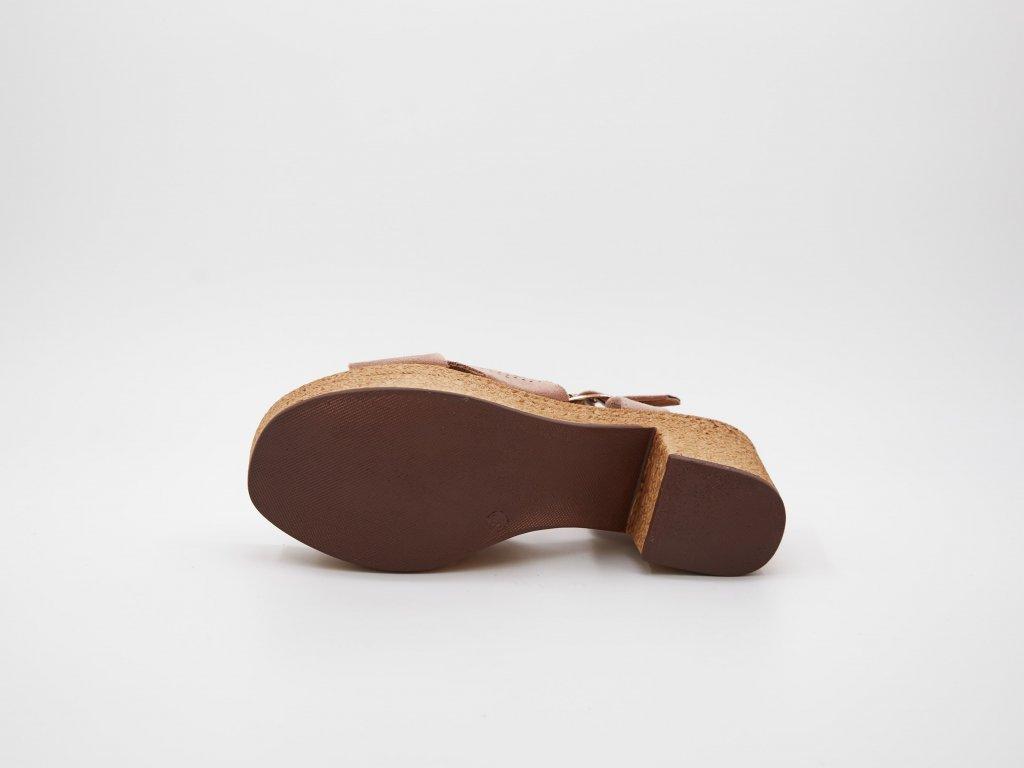 Dámské sandály růžové Loparna